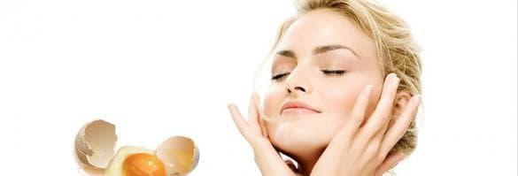 подтягивающая маска для лица с яичным белком