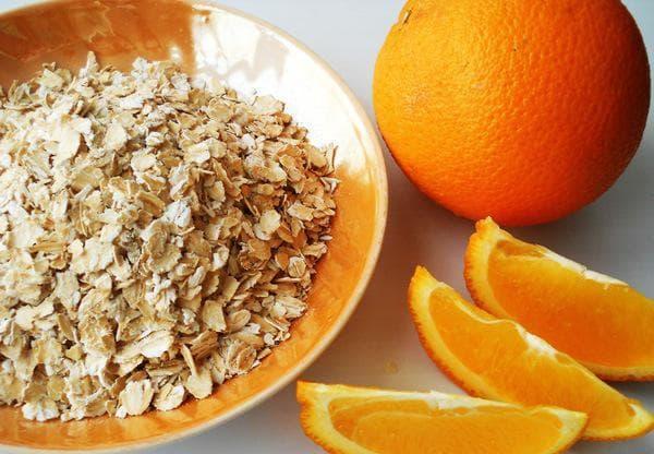 маска для лица овсянка С апельсином и мед