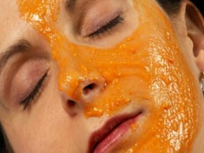 маска для лица овсянка Мякоть тыквы и хлопья Геркулес