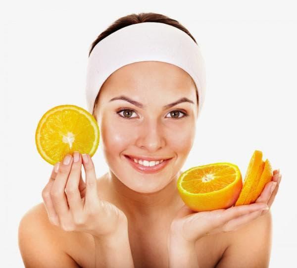 маска для лица овсянка С апельсином и соком персика