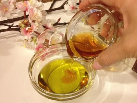 репейное масло и желатин