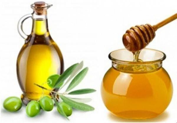 мед и оливковое масло для волос