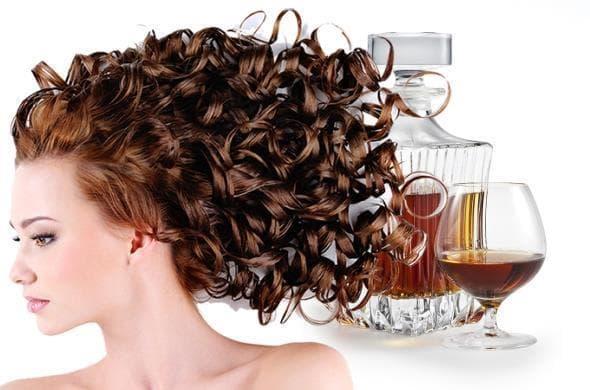 коньяк, кофе, мёд для волос