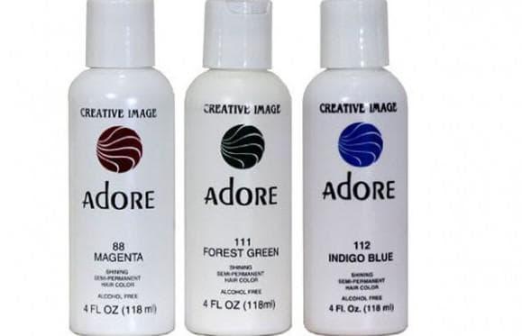 цветные краски для волос Adore