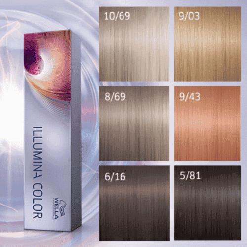 велла иллюмина краска +для волос палитра для женщин