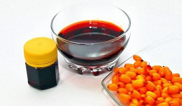 облепиховое масло и масло лопуха