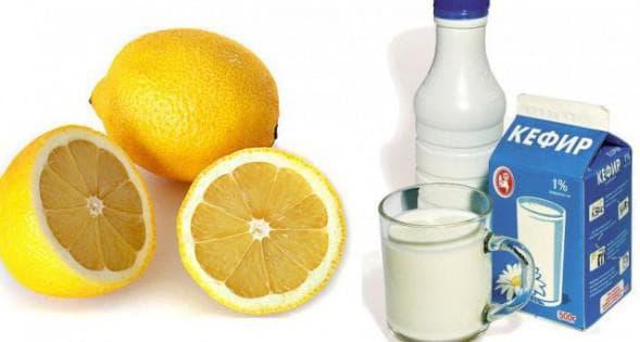 кефир и лимон для волос