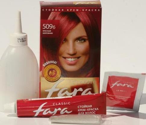 фара краска для волос палитра