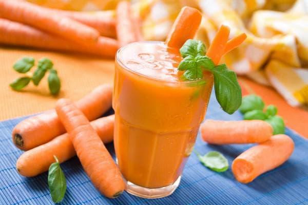 кефир и морковный сок