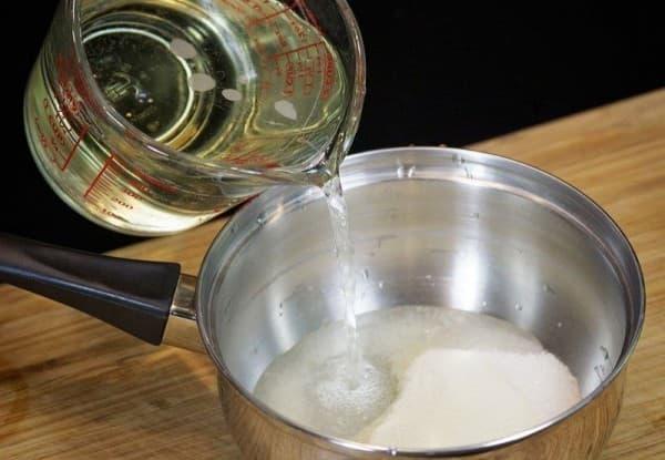 желатин и лимонный сок