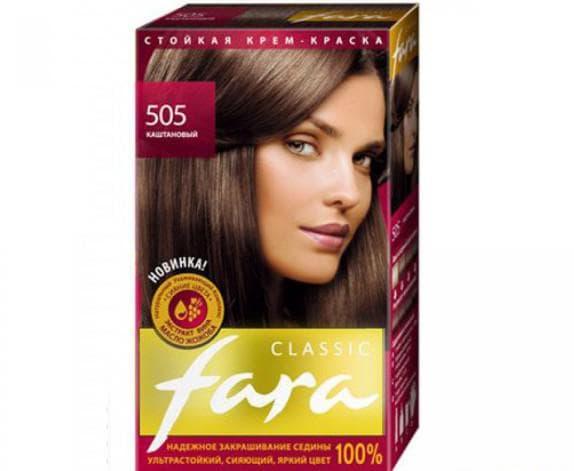краска для волос фара Classic Каштановые