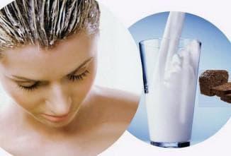 маска для волос из кислого молока