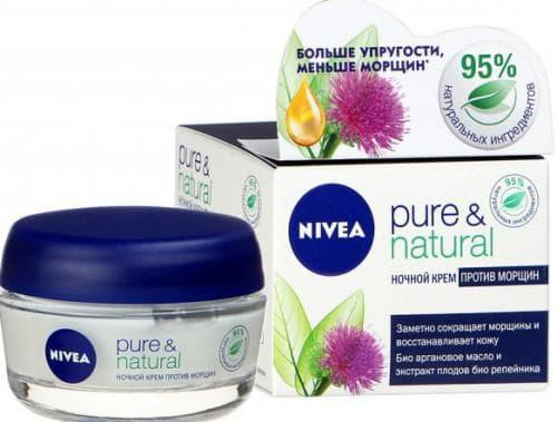 нивея крем для лица Pure amp и Natural