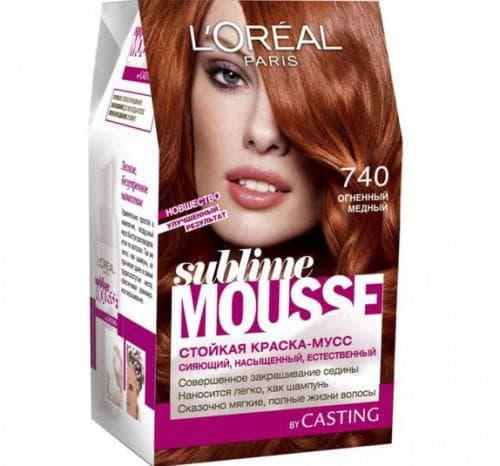 краска для волос лореаль Sublime Mousse