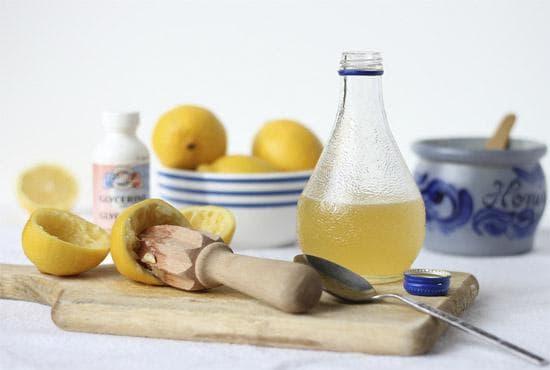 глицерин, спирт и сок лимона