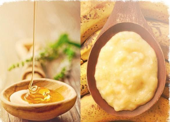 банан, авакадо, мёд и глицерин
