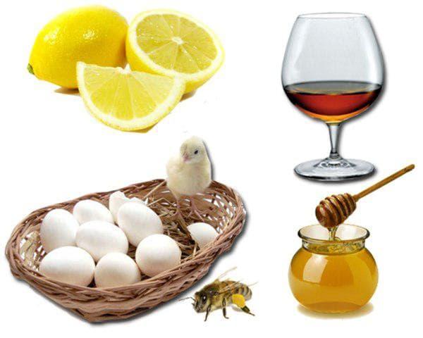 коньяк и мёд и яйцо