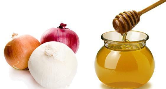 мёд и луковица