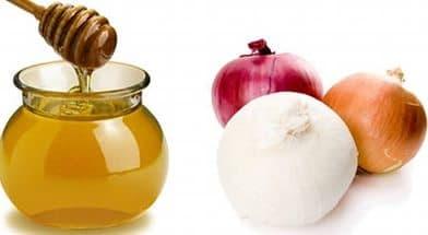 коньяк и мёд и лук