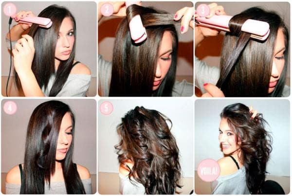 волосы и утюжёк