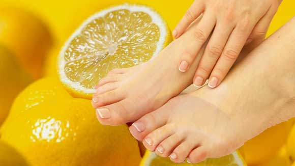 лимон против грибка