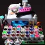 Ассортимент стартовых наборов для покрытия ногтей гель лаком