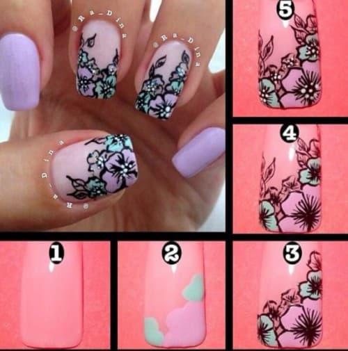 рисунки на ногтях гель лаком Цветы