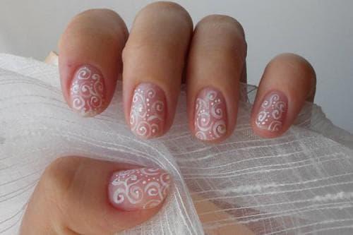 рисунки на ногтях гель лаком Вензеля