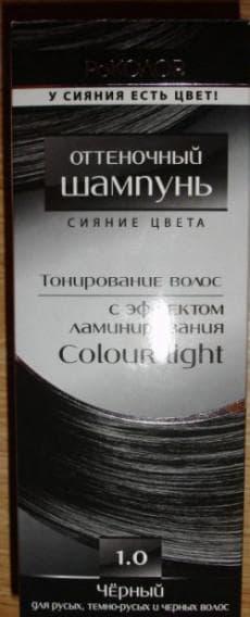 оттеночный шампунь с эффектом ламинирования Роколор чёрного цвета
