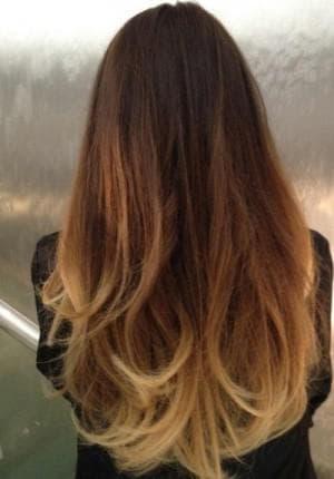 как покрасить кончики русых волос