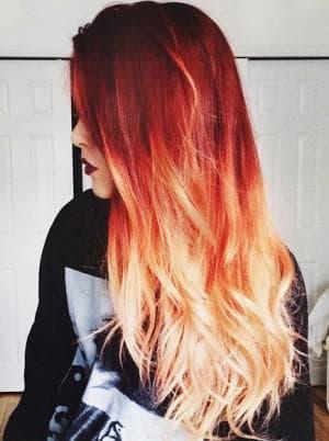 как покрасить кончики рыжих волос