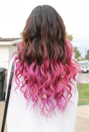 как покрасить кончики тёмных волос