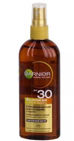 солнцезащитное масло-спрей SPF 30 garnier
