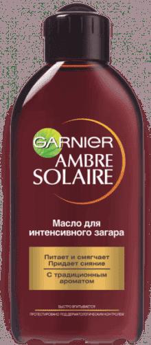 масло для интенсивного загара garnier