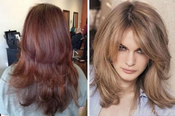 стрижка волос каскадом