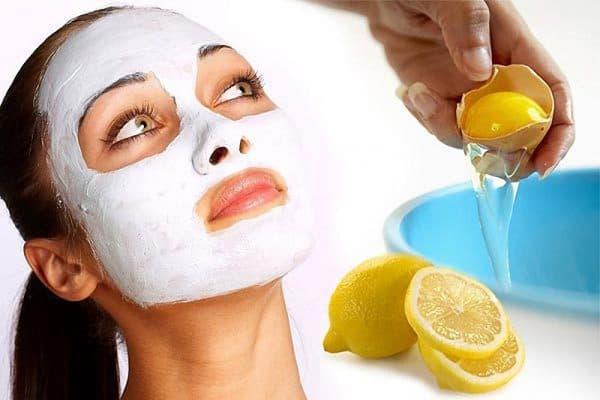 маска с белком и лимоном