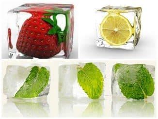 травянистые составы со льдом для лица