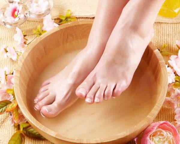 ванночка с перекисью и уксусом