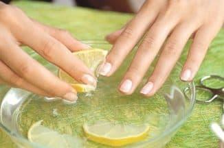 Маска с цитрусами для ногтей